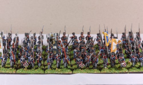 Napoleonic Prussians infantry in 15 mm.