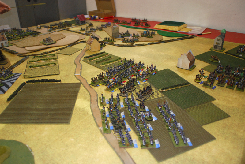 Pecheux, Hulot and Maurin cavalry from Gerard Corps move to Ligny e Tongrenelle.