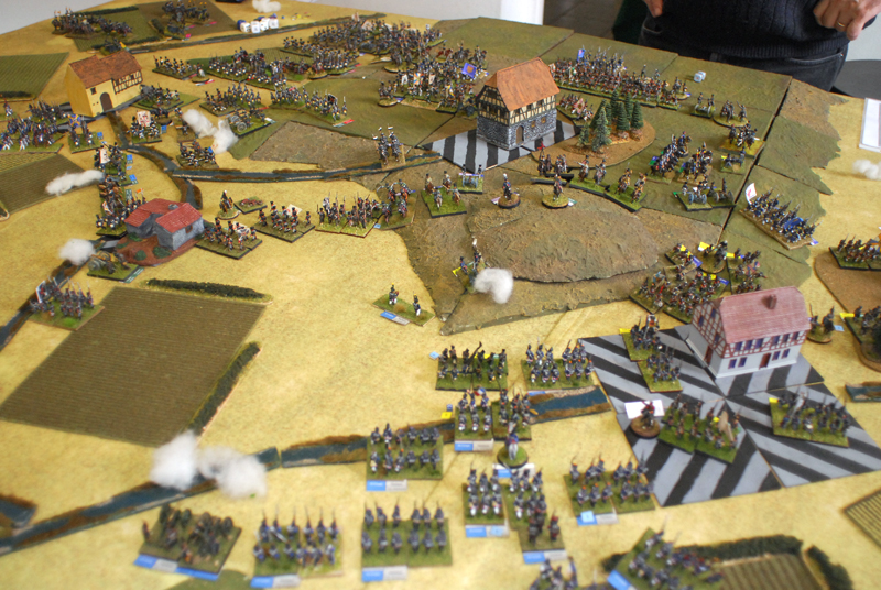 The french attack near Ligny.