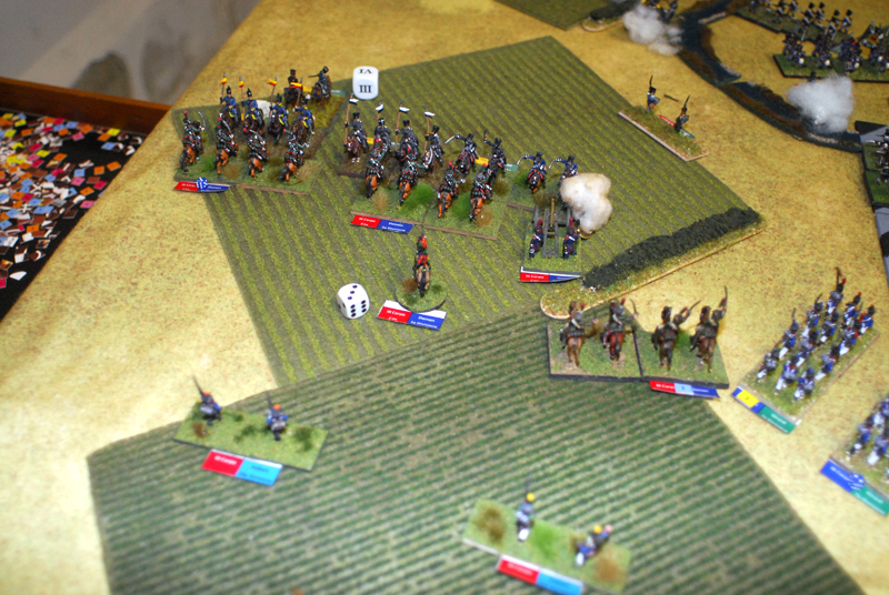 Domon against Lutzow cavalry.