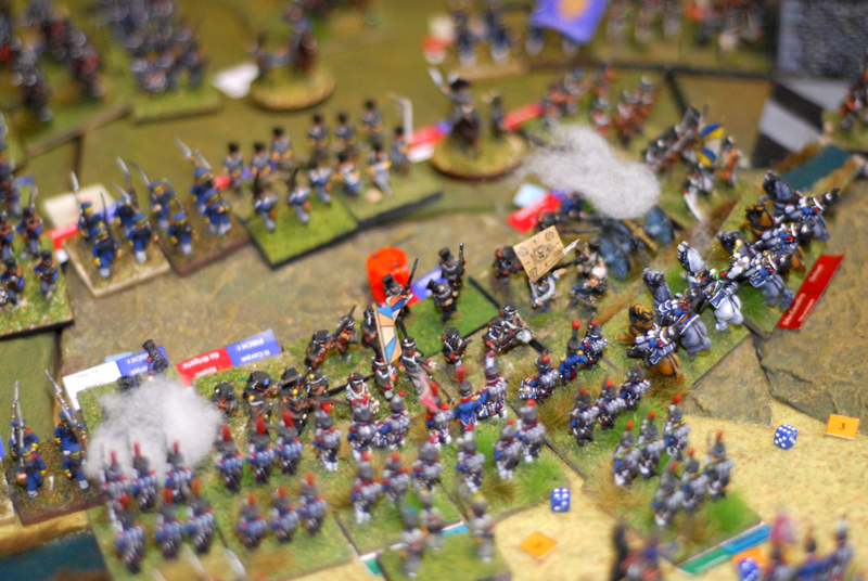 The Prussians fight well, the Young Guard recule