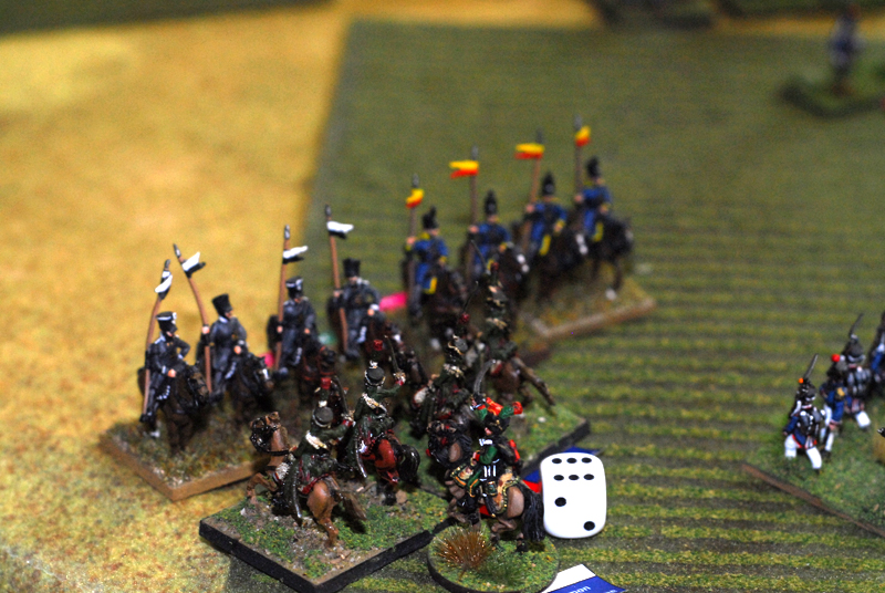 2 Prussian landwehr cavalry regiments lost a charge againt a french chasseur regiment.