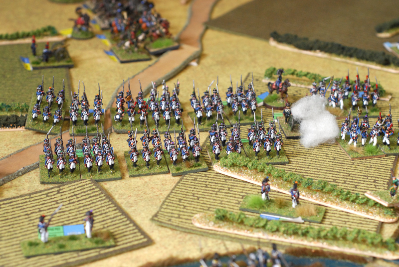 Vichery infantry division advance versus prussian first line.