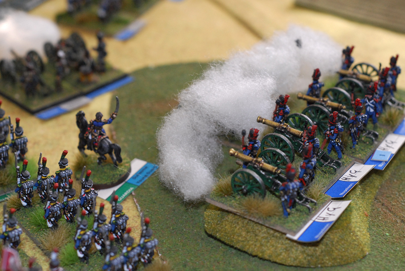 The deadly fire of the Guard's artillery.
