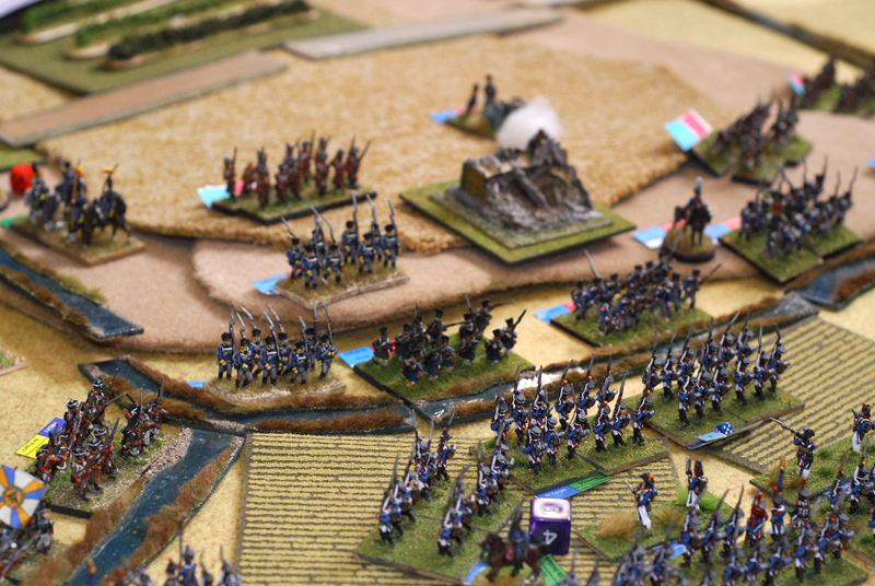 Prussians defend the stream in front of Mont Potriaux