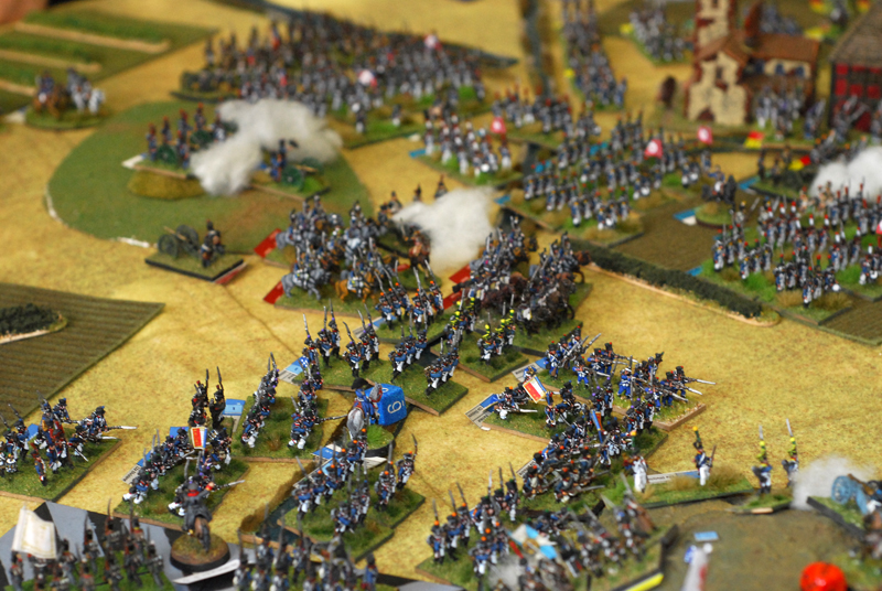 Pecheux infantry division, Delort cuirassier's and in background Yang guard attacks between Brye and La Haye