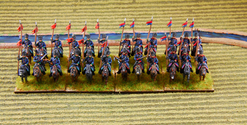 Westphalian landwehr and the Ulans are ready to charge