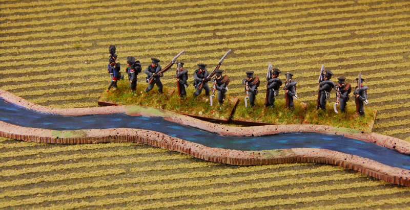 The fusiliers defend the river
